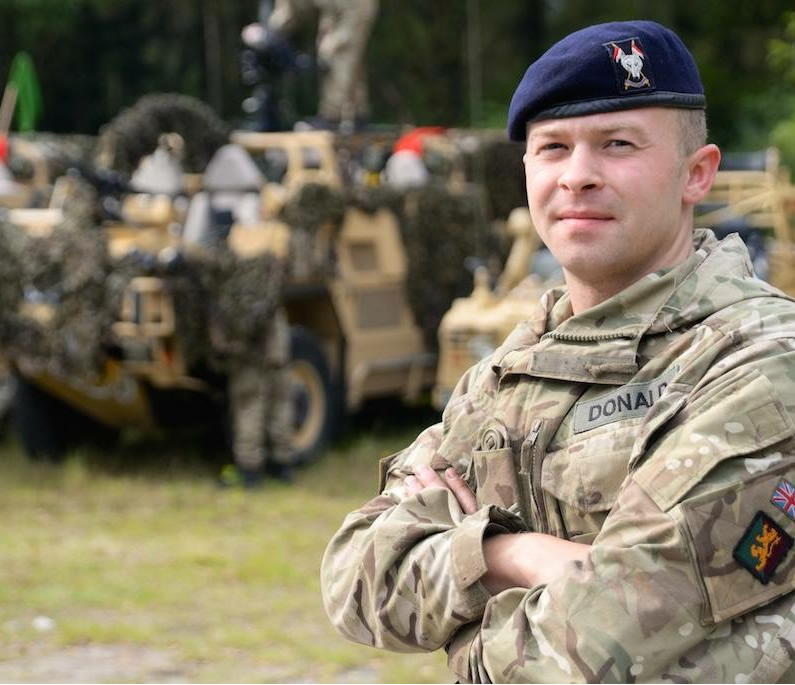 Military Territorial Army and Lorry Driver