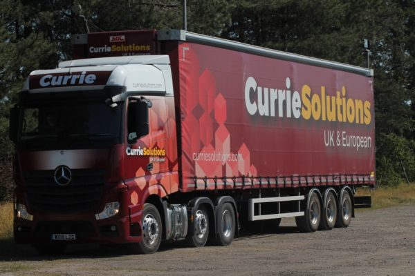 New Mercedes added to Logistics company Currie Solutions fleet